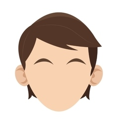 Head of man icon vector
