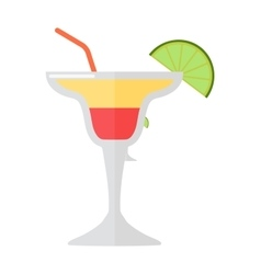 Mojito glass drink vector