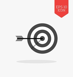 Target icon flat design gray color symbol modern vector