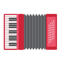 accordion flat icon music and instrument vector image vector image
