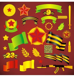 army day holiday element set no transparent vector image vector image