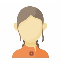 Avatar brown-haired woman icon cartoon style vector image