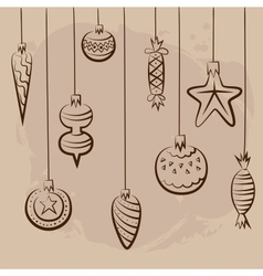 Christmas and New year card concept vector image