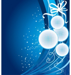 Christmas back blue vector image vector image