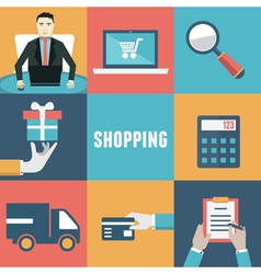 Concept of internet shopping vector image vector image