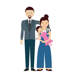 couples family baby vector image vector image