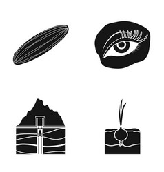 Cucumber onion and other web icon in black style vector