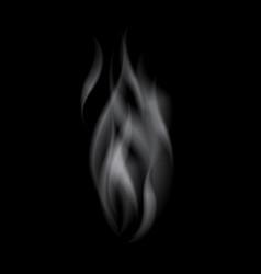 Delicate white realistic cigarette smoke waves vector