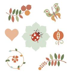Fantasy floral designs vector image