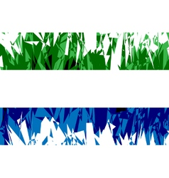 Flag of sierra leone vector
