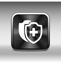 Medical Shield Icon shield flat health cross vector image vector image