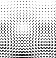 Monochrome geometric ellipse pattern background vector image vector image