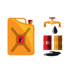 Oil barrel capacity crane vector image
