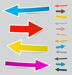 Paper Arrows Set vector image