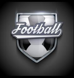premium symbols of football emblem vector image vector image