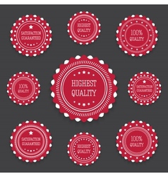 Red bages in retro style vector image
