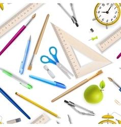 School supplies seamless pattern EPS 10 vector image vector image