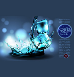 soda advertising design high detailed realistic vector image vector image
