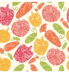 Textured vegetables seamless pattern background vector image vector image