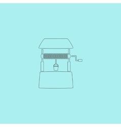 Water Well flat vector image vector image