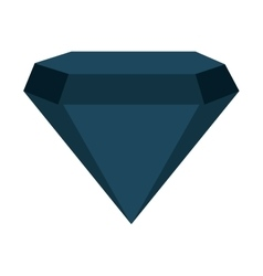 Diamond bright silhouette icon vector
