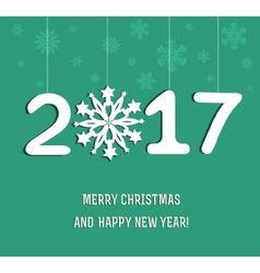New year decoration 2017 vector