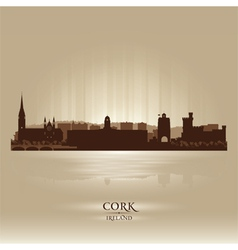 Cork Ireland skyline city silhouette vector image