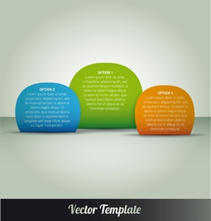 Option tabs template vector