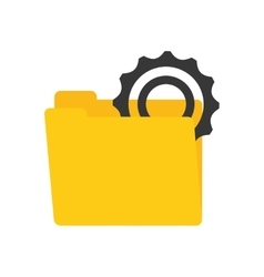 Folder data gear wheel technology vector