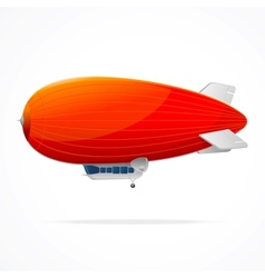 Red dirigible balloon on a white background vector
