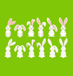 cute easter cartoon bunny vector image