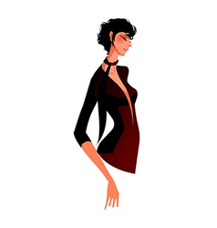 Side view of woman vector