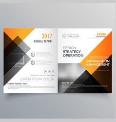 Stylish booklet brochure template design with vector