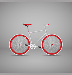 Retro bike is red eps10 vector