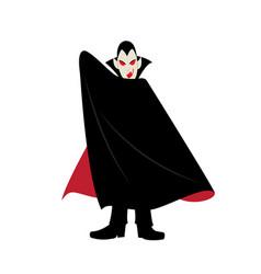 Vampire halloween cartoon character vector