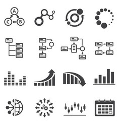 Big data icon set business infographic vector