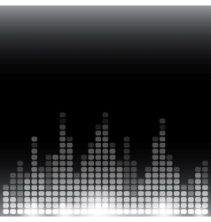 Grayscale digital equalizer background with flares vector