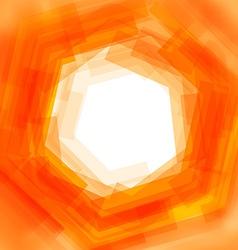 Background with orange blurred hexagon vector