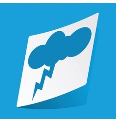 Thunderstorm sticker vector
