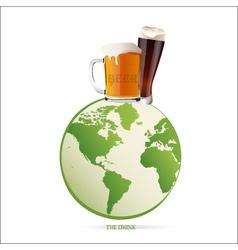 world beer vector image