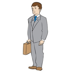 Man with attache vector