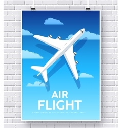 Air flight plane with house home vector