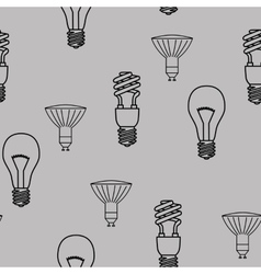 Energy saving light bulbs seamless pattern vector