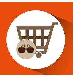 Basket buy commerce buy business vector