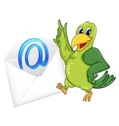 bird with mail envelope vector image