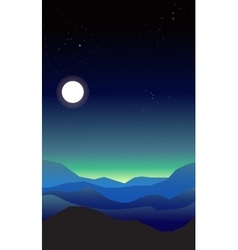 Abstract landscape of a night vector image vector image