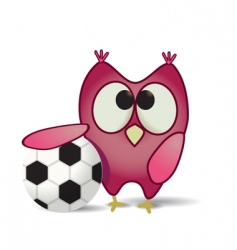 ball and owl vector image vector image