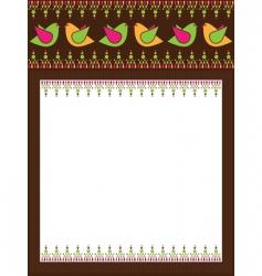 bird border vector image vector image
