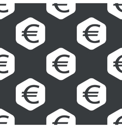 Black hexagon euro pattern vector