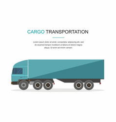 blue cargo delivery truck isolated vector image